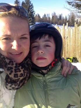 Анита со синчето