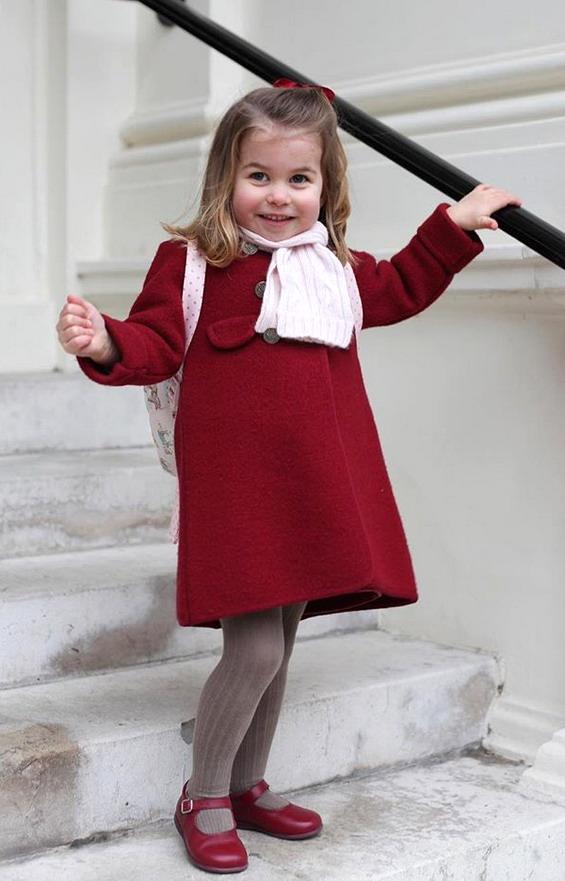 Принцезата Шарлот тргна во градинка