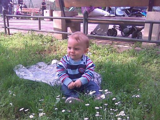 Арман Абаџиќ во парк