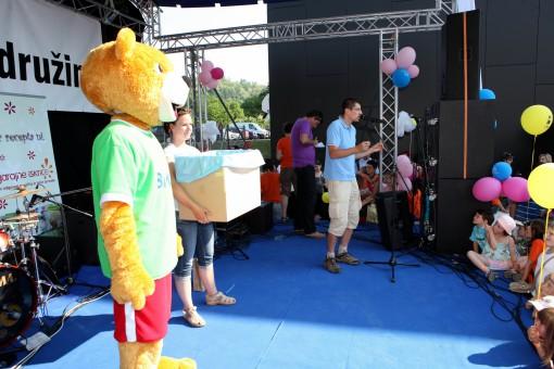 Medo Bimbi je razveseljeval tudi na odru