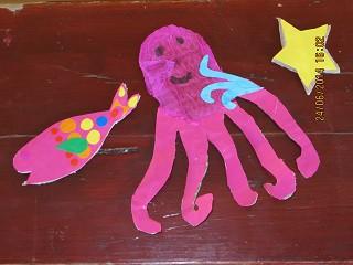 Slika 4: Morske živali iz kartona