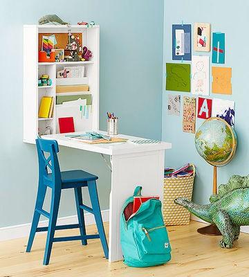 Za kotiček za učenje ne potrebujete veliko prostora.