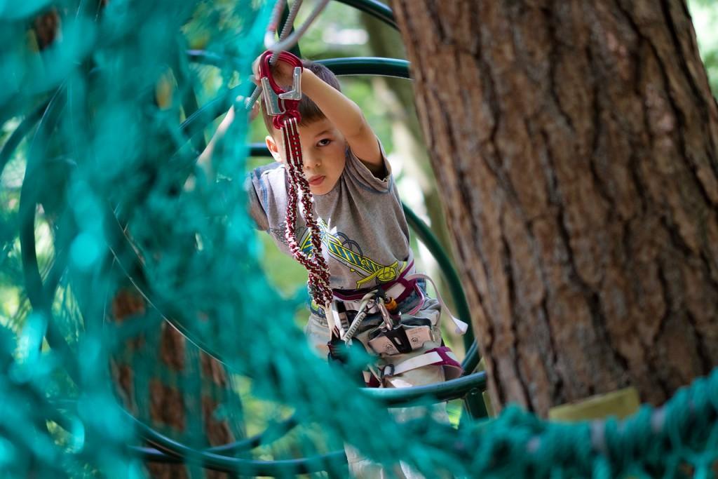 V parku je pet plezalnih poti za različne starostne skupine.