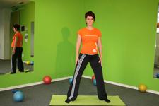 Pilates široki počep - začetni položaj