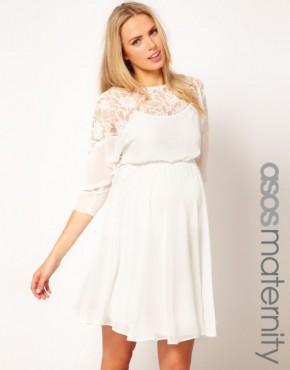 Romantična bela tunika