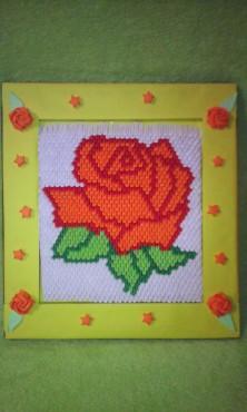 1. nagrada - slika ruže u okviru