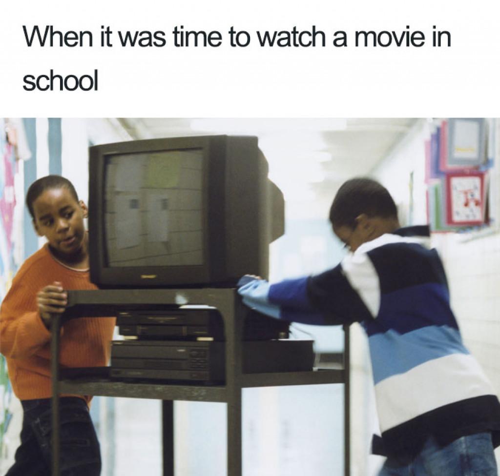 Ko je bil v šoli čas za film (FOTO: Bored Panda)