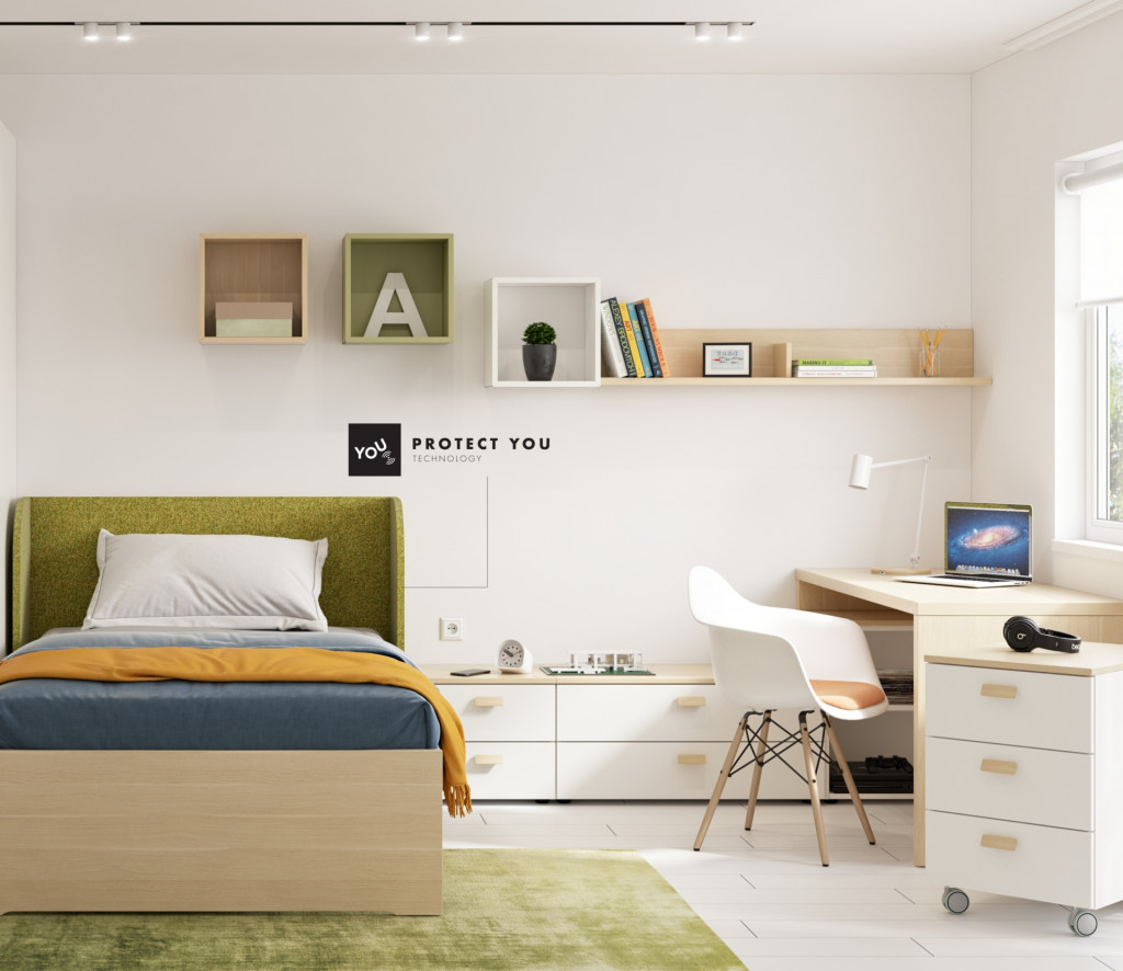 Otrok se mora v svoji sobi počutiti udobno in varno.