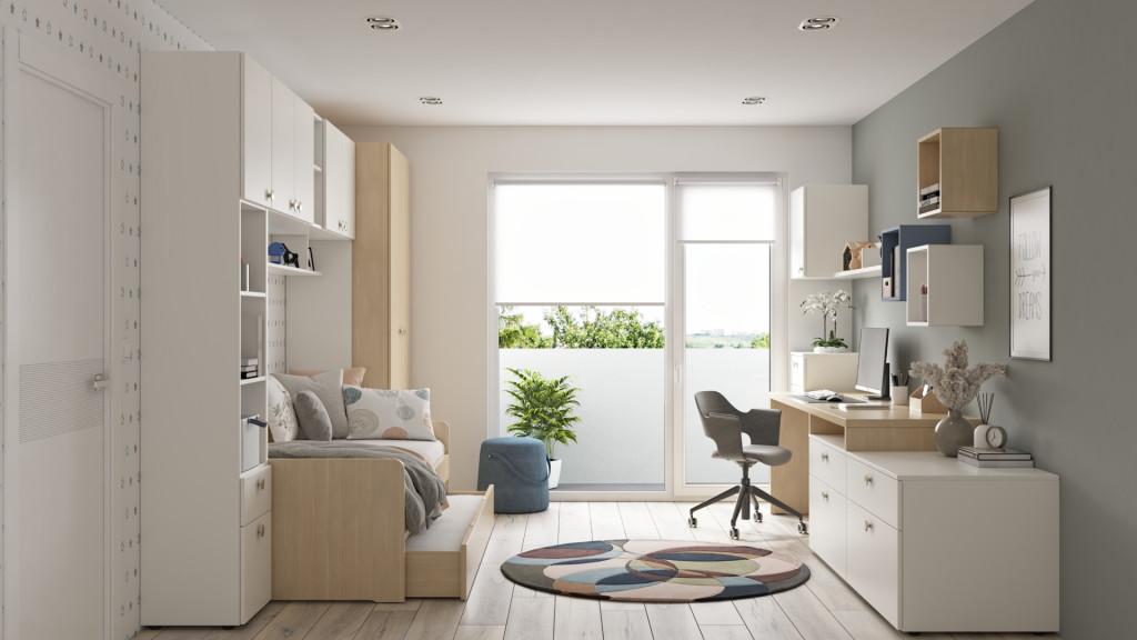 Tudi prave barve pohištva lahko prostor naredijo svetlejši.