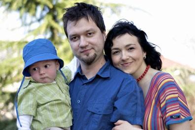 Polona Požgan z družino