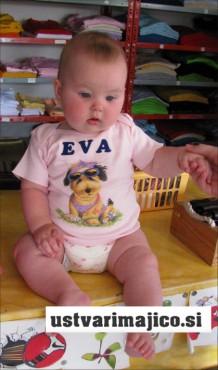 Baby majica z imenom dojenčka in sliko