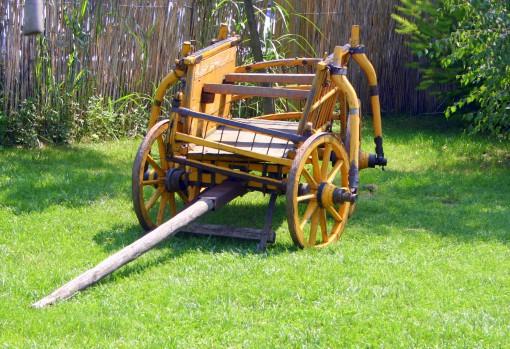 Leseni voz, včasih edino transportno sredstvo