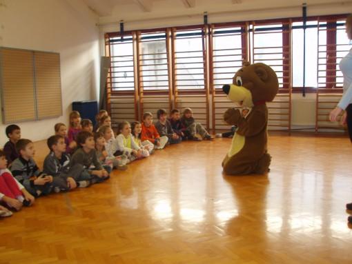 Lino nas je za nagrado obiskal v naši šoli