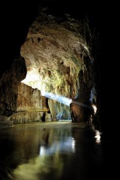 Mahoričeva jama - žarek