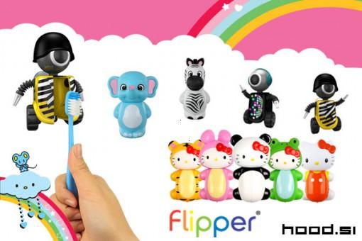 Flipper zabavno držalo za zobno ščetko