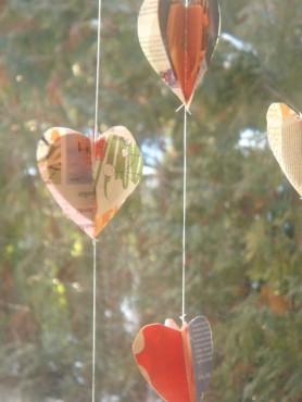 papirnati vrteči srčki