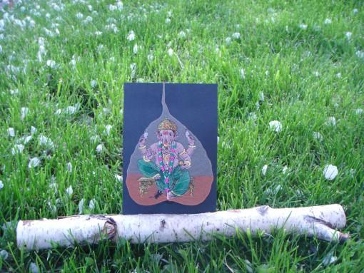 Stojalo za fotografije iz brezove palice