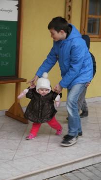 Otroci so uživali na vsakem koraku