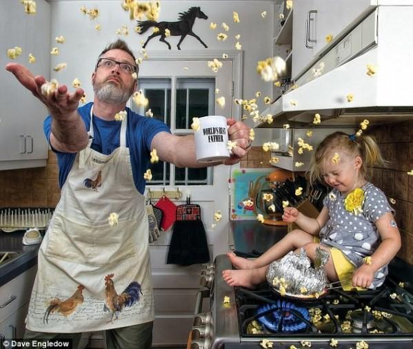 Ko očka in otrok kuhata ...