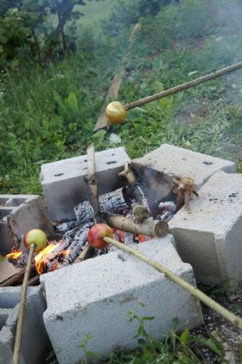 Jesenske dobrote n odprtem ognju. (Foto: arhiv Zeleni prstki)