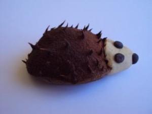Slika 2: Prikupen ježek iz lupine kostanja