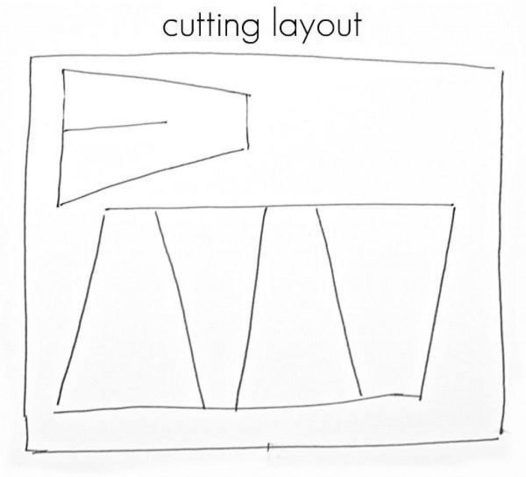 Skica platna za prekritje šotora
