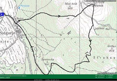 Zemljevid Slivnika