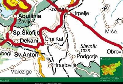 Zemljevid okolice