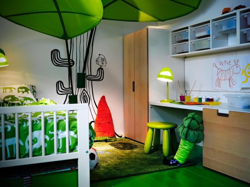 V otroški sobi so dovoljene žive barve.
