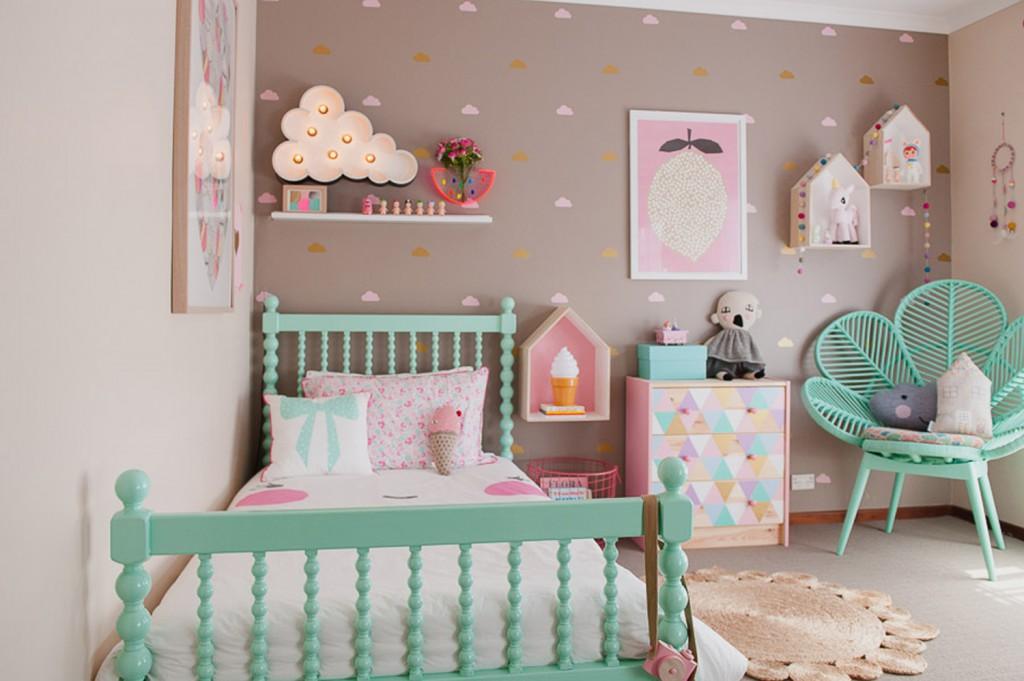 Pravljična otroška soba za nežno princesko