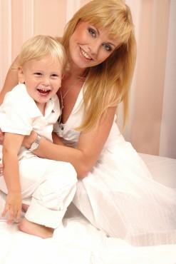 Andreja s sinčkom