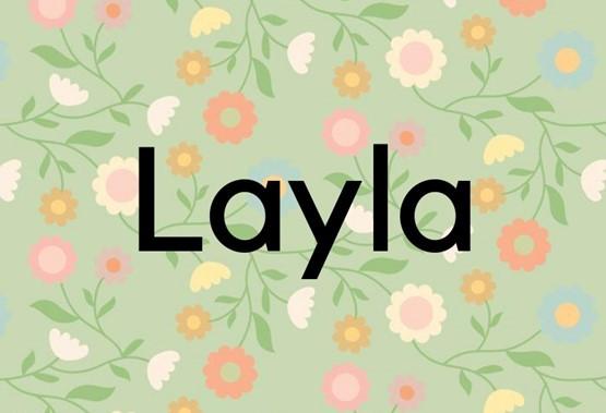 Layla ima arabske korenine in pomeni noč.