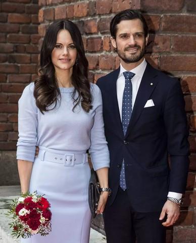 Švedska princesa Sofia in princ Carl Phillip pričakujeta tretjega otroka.