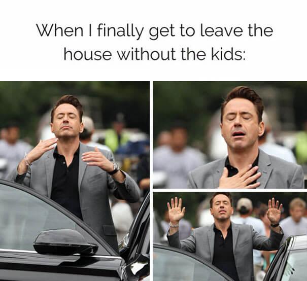 zapustiš hišo