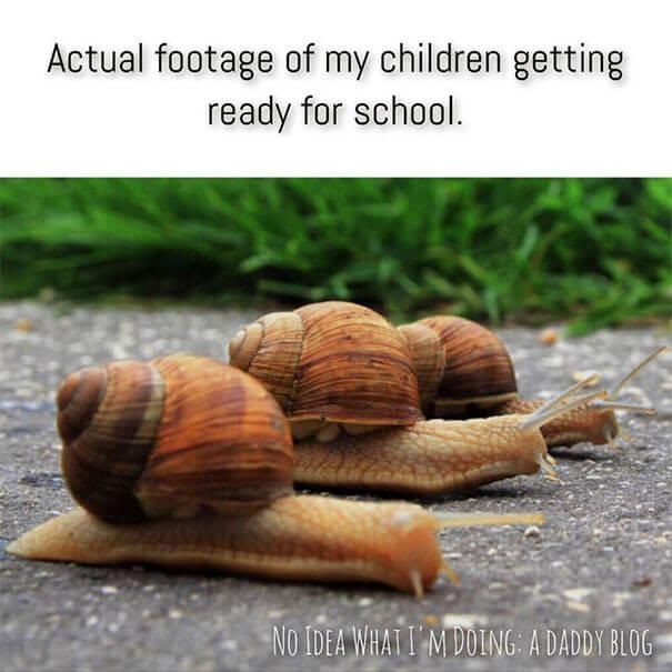 odhod v šolo