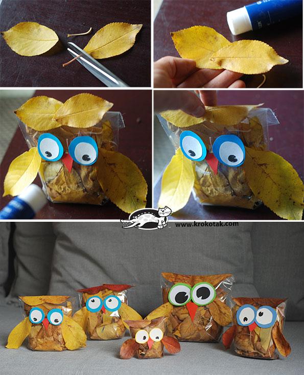 sovice iz listja