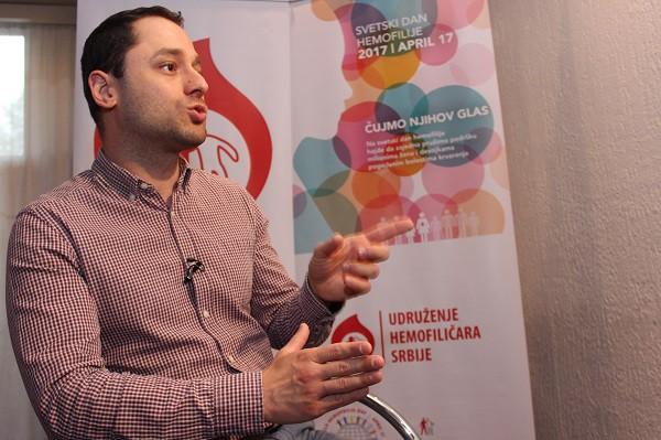 Julijan Colov, menadžer Svetske federacije za hemofiliju