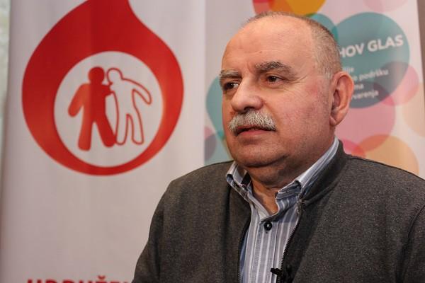 Vladimir Ilijin, predsednik Udruženja hemofiličara Srbije